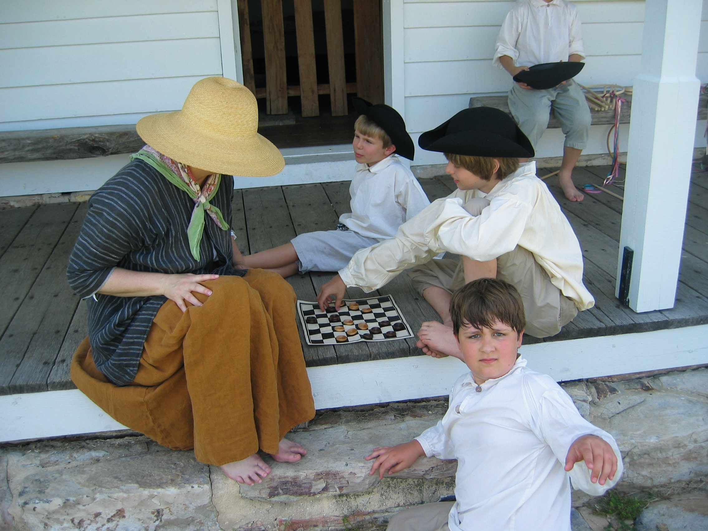 Colonial Children Playing Games